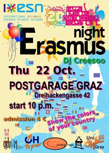Erasmus night happy birthday esn welcome party